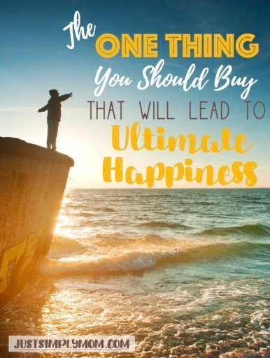 If you knew you could be happier by doing just one thing, wouldn't you want to do that? Change one simple thing in life and you will truly be happier!