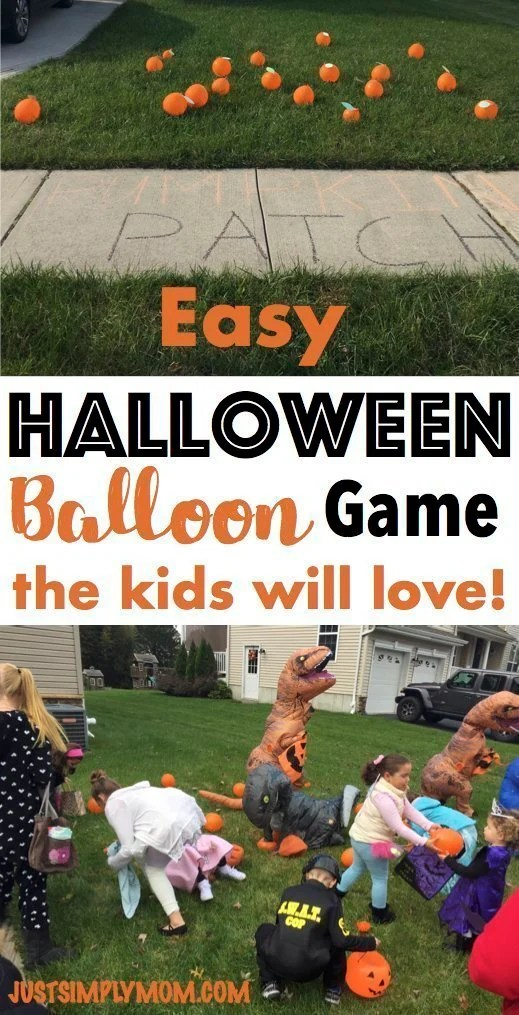 Easy Halloween Balloon Game The Kids Will Love