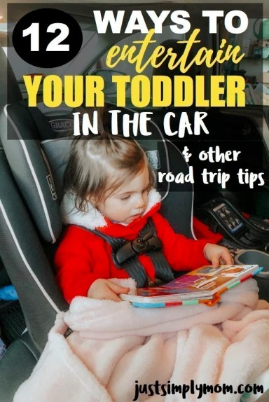 toddler entertained in car pin