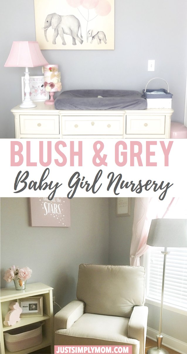 Blush and Grey Nursery for a Sweet Baby Girl