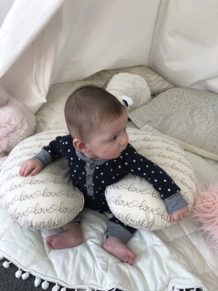 My infant is 6 months old and not sitting yet! I would love for him to start sitting up on his own. These tips, positions, and activities helped me to work and practice sitting with my baby. Thanks for helping my baby to sit up on their own.