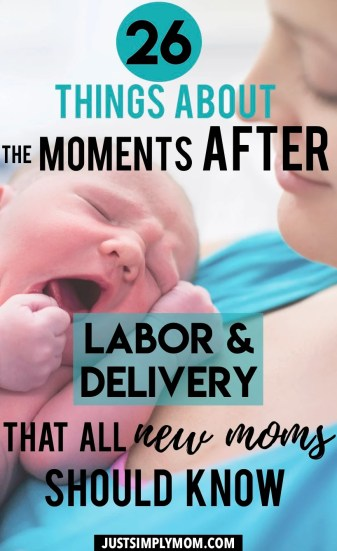 Childbirth doesn't just end after delivery of your baby. This is what I wish I knew as a new mom about issues that can arise in the hospital and the whole recovery process for mom and baby. Recovery can be an unpleasant experience for most new moms. Here are several of the postpartum symptoms following labor and delivery that you may not have known about and tips with how to deal with them.