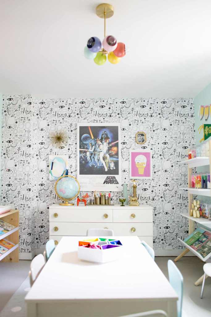 Design a beautiful, modern playroom with your child and chic home decor in mind. Playrooms are not just storage for toys, but can be an extension of your home.