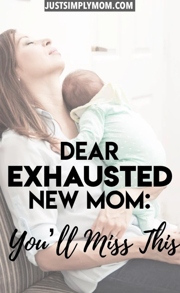 If you're an exhausted new mom, you understand that sleep is tough to come by in those early baby months. Trust me, it gets better and you will look back and miss it. Here are the reasons why.