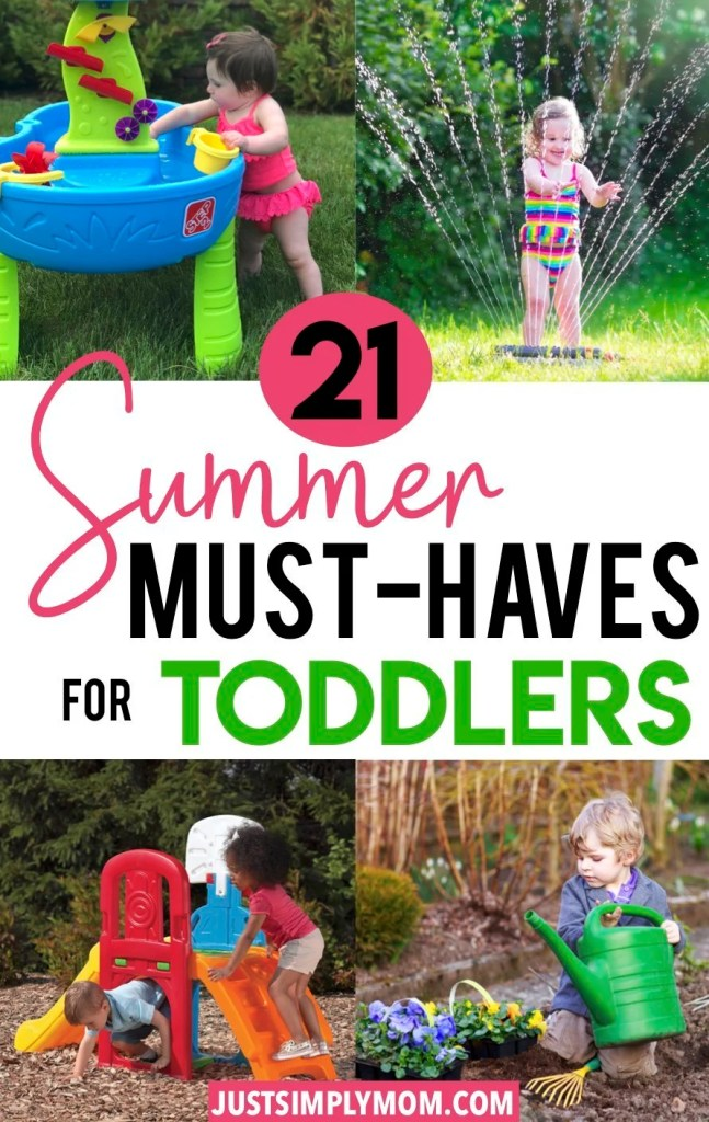 Get your 1 or 2 year old outside and playing this summer. The essentials for having a toddler outdoors in the summer sun. These are your must-haves to encourage outdoor exploration and play, as well as sun safety.