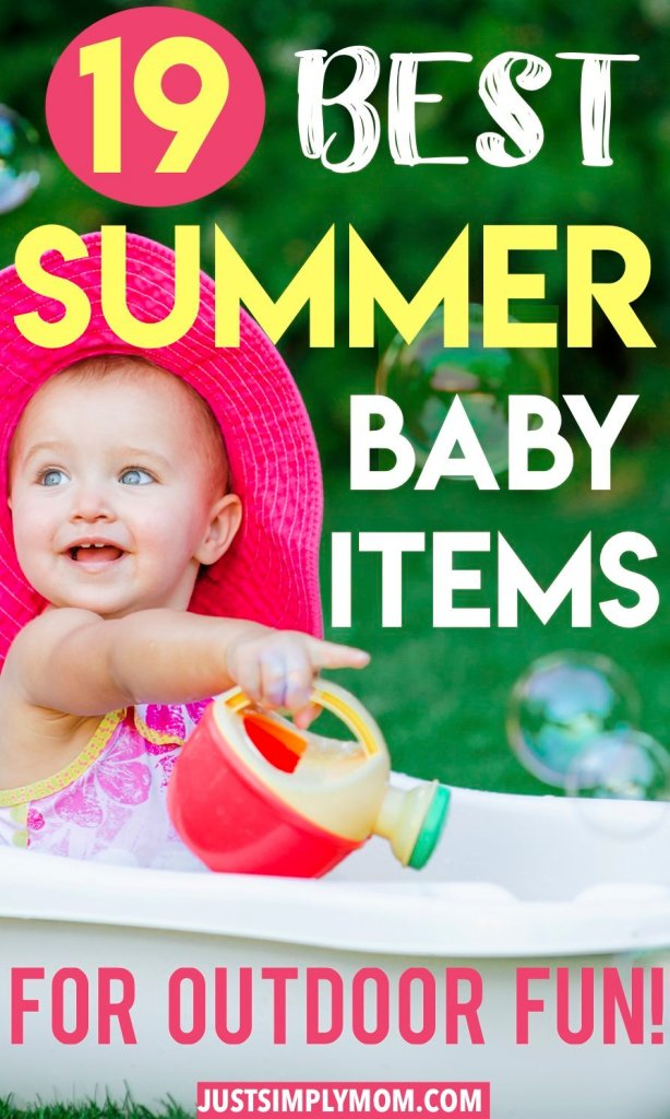 The essentials for having a baby outside in the hot summer sun. Don't leave home without some of these items to protect your baby & encourage outdoor play.