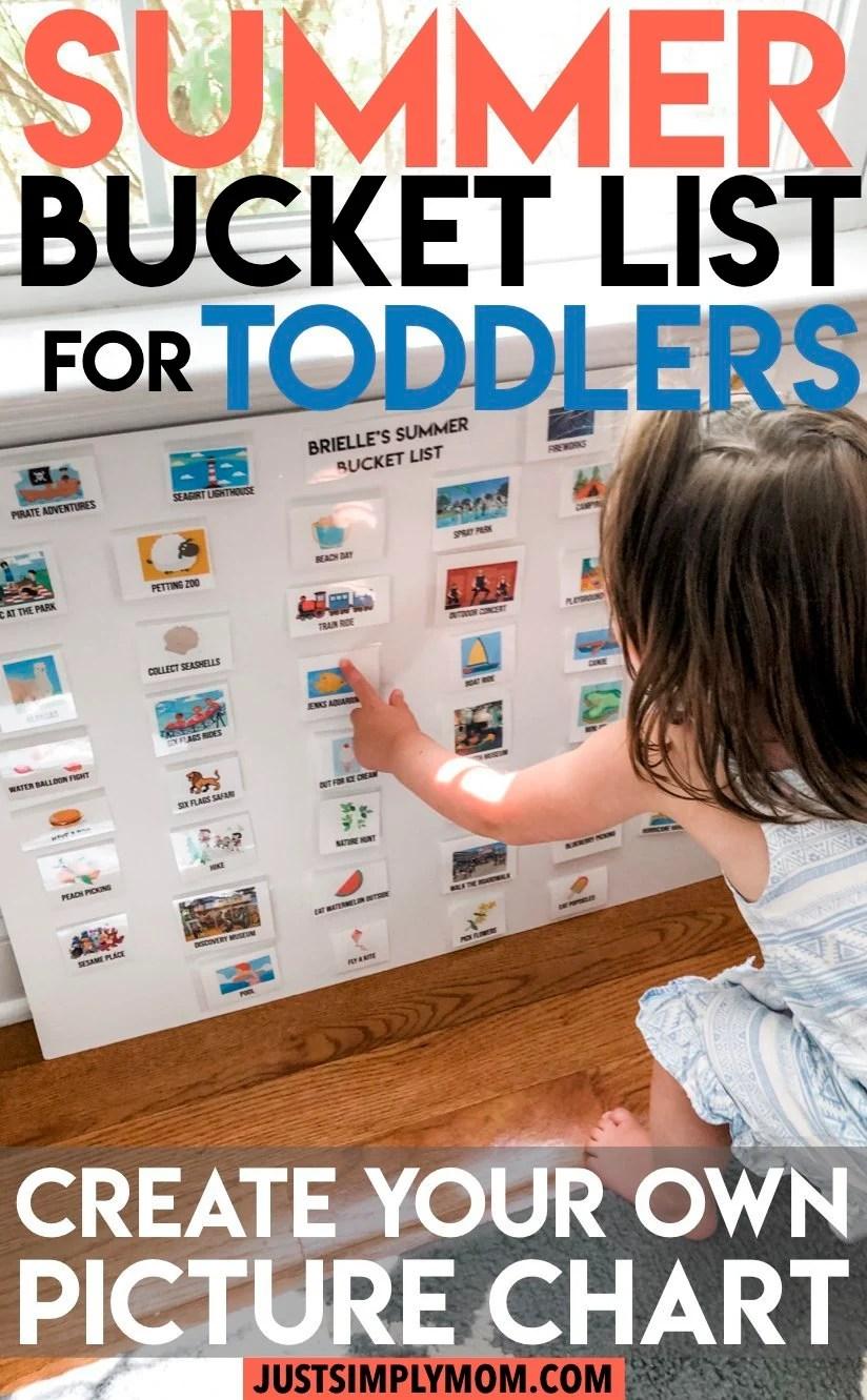 DIY Toddler Summer Bucket List Poster