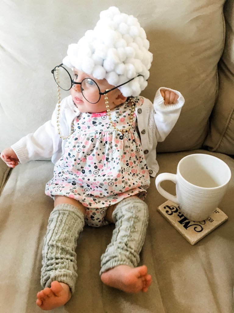 Make a simple old lady baby costume this halloween. Follow the steps and have a costume ready in no time to get all the attention on your sweet little baby.