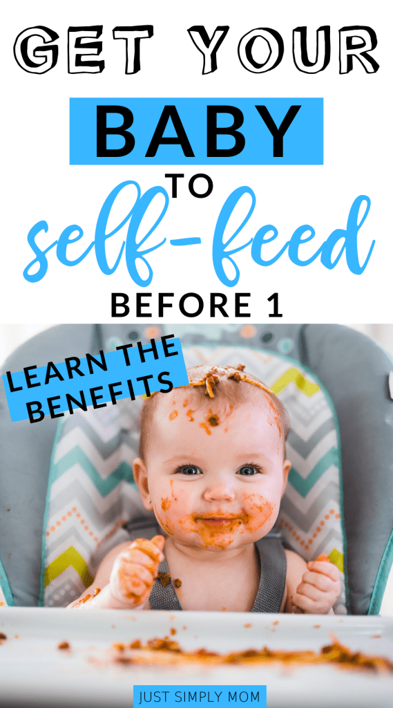 Allowing your baby to feed themselves is a skill that will lead to greater independence, self-determination, improved motor skills and learning. There are many more benefits to self-feeding that you can read here, including sensory experience and improving motor skills.
