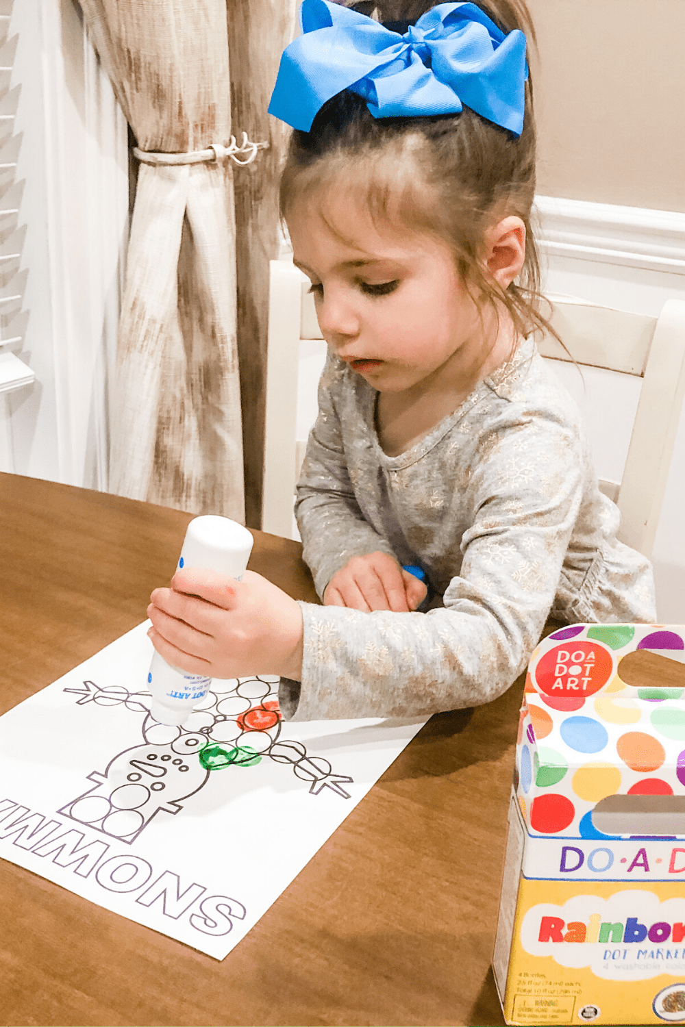 Winter Fine Motor and Coloring Sheets for Toddlers – Free Printables!