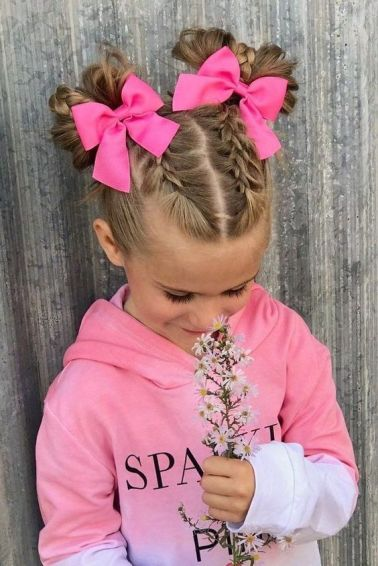 Simple and cute hairstyles for toddler or little girls with medium to long hair. From braids and twists to half up ponies, there's something unique for all