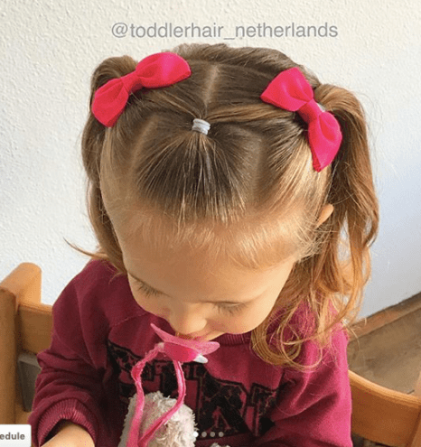 Easy and cute hairstyles for toddler or little girls with medium to long hair. From braids and twists to half up ponies, there's something unique for all