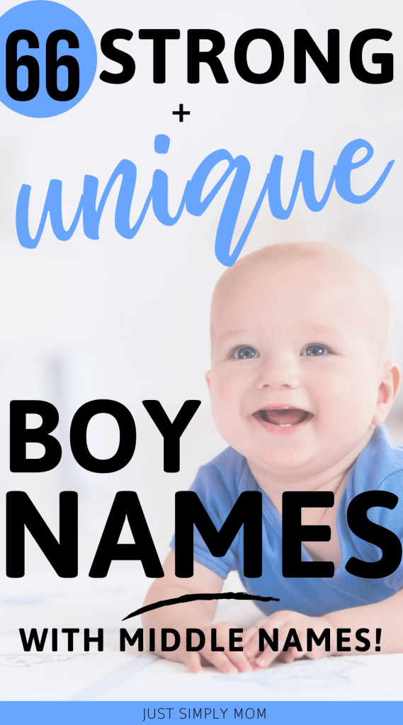 Picking a name for your baby can be a tough decision. Here is a list of strong, unique, and masculine boy first and middle names and tips to help you decide.