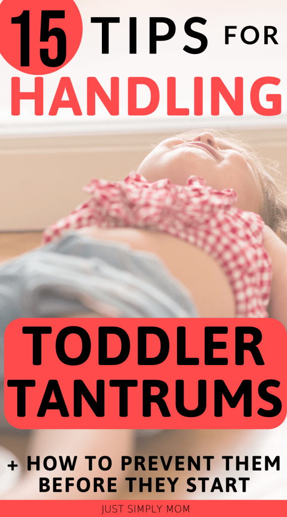 Have a wild 2 year old or crazy 3 yr old & need to learn how to handle toddler tantrums? These tips will help you manage & prevent meltdowns in your child before they start! Learn ways to remain calm and discuss options with your toddler to get the behaviors under control.