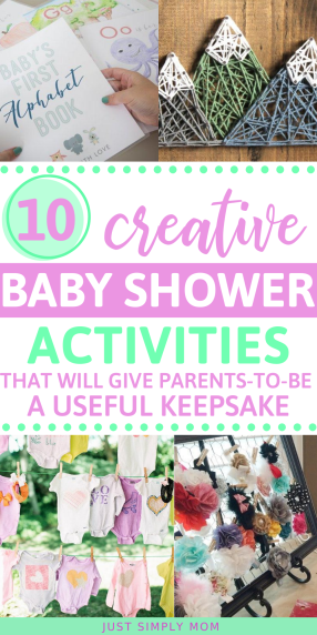 Get creative with these unique baby shower activities and game ideas that will wow your guests and give something extra for mom-to-be. Parents will love bringing home a keepsake from their shower that they can use for baby as they grow.