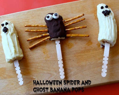 healthy halloween snack with bananas