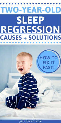 The two year old sleep regression can cause many sleep issues. FInd out solutions to these problems here and ways to fix it for better sleep.