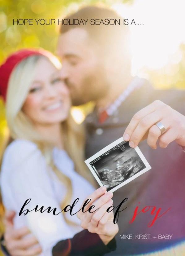 christmas pregnancy announcement ultrasound