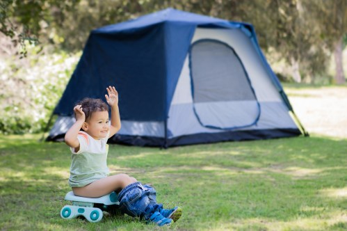 When potty training a toddler it's essential to have a portable potty seat for travel or on-the-go for emergencies or accidents. Here are 5 potty training tips and tools to have with you when traveling and on-the-go with your newly potty trained toddler or preschooler.