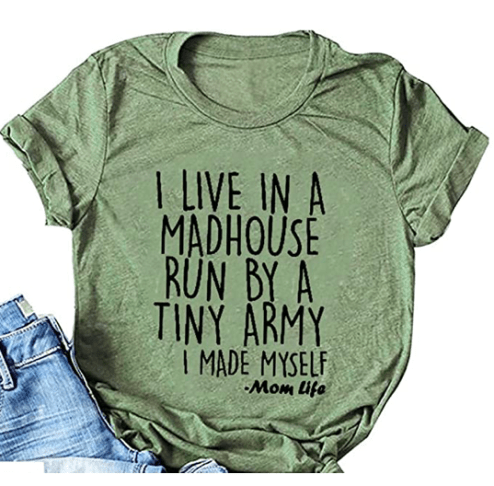 Check out these funny mom shirts to show off mom life in style. These hillarious shirts about motherhood will surely get some laughs.