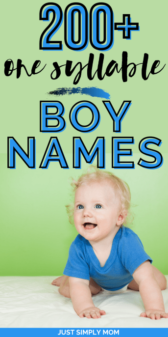 These one syllable boy names can be used as first names of course, but also make great boy middle names if you have a longer first name picked out. Mix and match them as first and middle names to find the perfect fit!