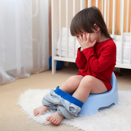 Potty training poop anxiety can be quite common, but there are ways that you can alleviate the anxiety and get your toddler potty trained.