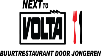 Next to Volta logo groot