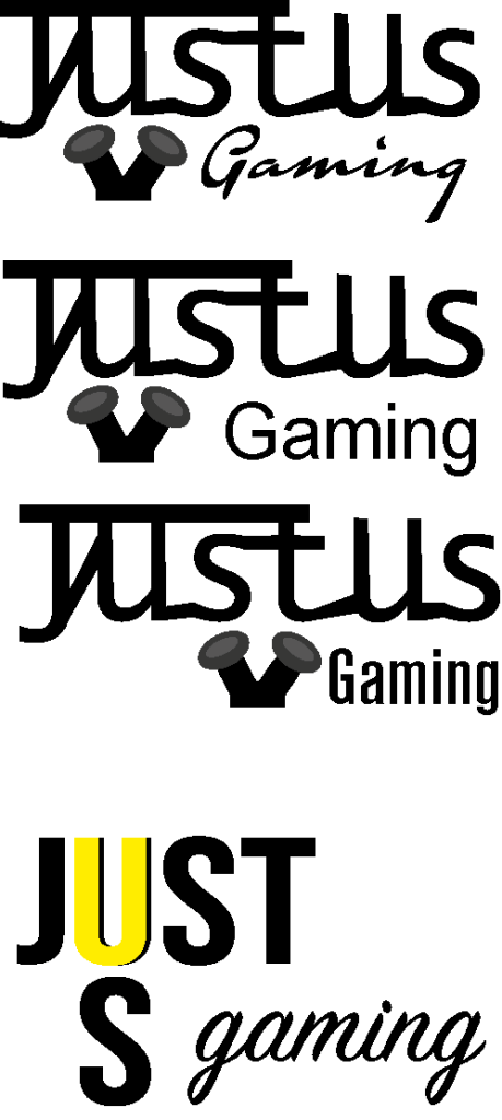 JustUs Gaming Logo set