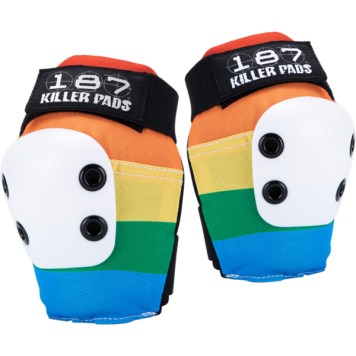 This is a photo of 187 Killer Pads Rainbow SLIM Elbow Pads
