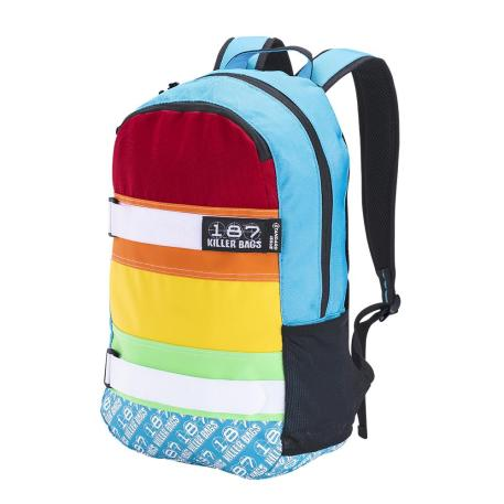 This is a picture of the 187 Killer Pads Backpack Rainbow