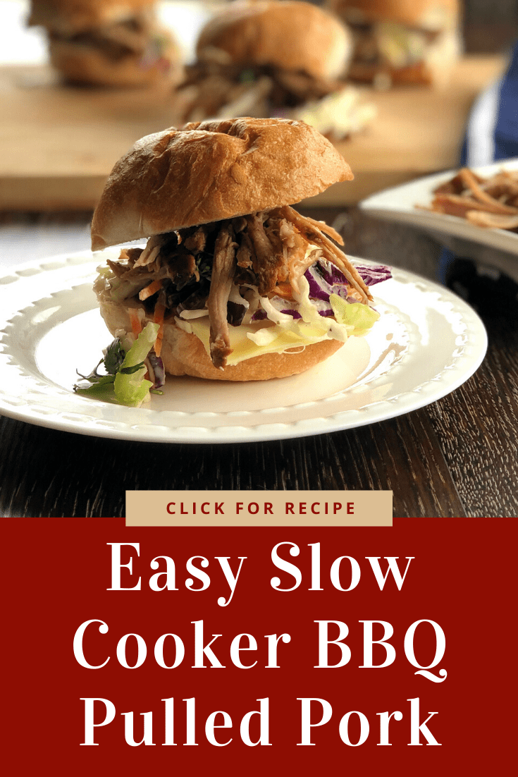 Delicious BBQ Sauce Slow Cooker Pulled Pork. Only a couple of ingredients this one is so easy! Perfect in sliders or tacos. You will love this recipe
