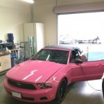 Hot Pink Ford Mustang