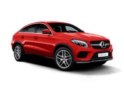Red Mercedes GLE