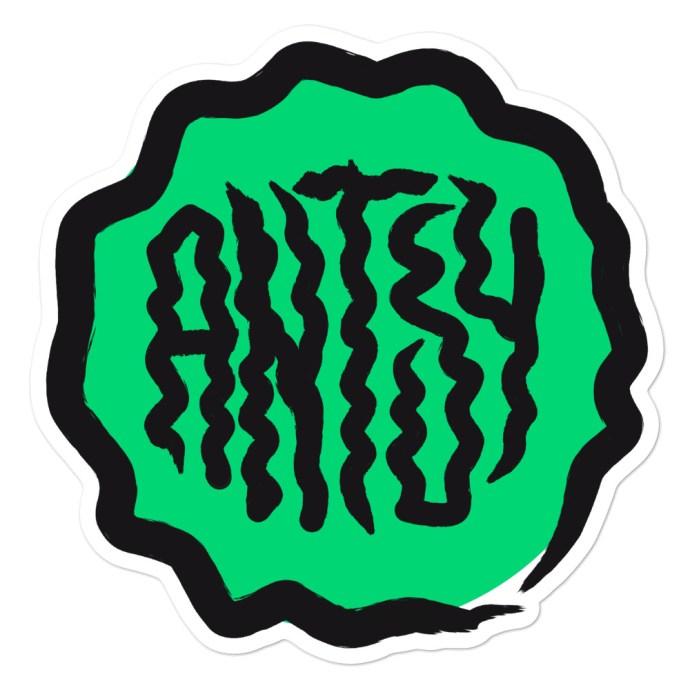 green antsy sticker - 5.5x5.5