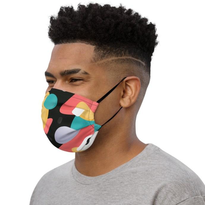 artsy face mask left