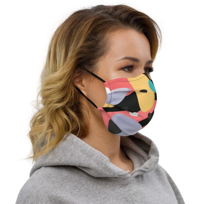 artsy face mask right