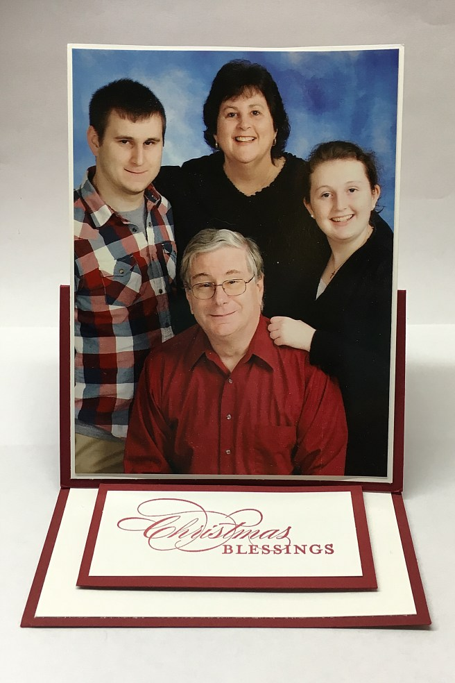 Stampin Up Fun Fold Christmas photo card idea - Jeanie Stark StampinUp