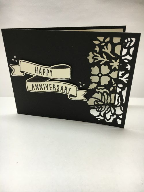 Detailed Floral Thinlits and Bunch of Banners Framelits anniversary card idea - Jeanie Stark StampinUp