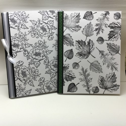 Stampin Up Birthday Blooms and Vintage Leaves stamped notebooks - Jeanie Stark StampinUp