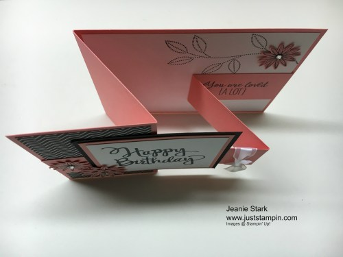 Stampin Up Stylized Birthday fun fold card idea using the Blossom Bunch Punch - Jeanie Stark StampinUp
