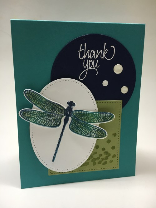 Stampin Up Dragonfly Dreams stamp set and Detailed Dragonfly Thinlits - Jeanie Stark StampinUp