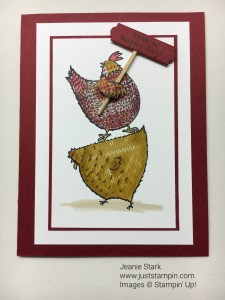 Stampin' Up! Hey Chick Paper Piecing technique card idea- Jeanie Stark StampinUp