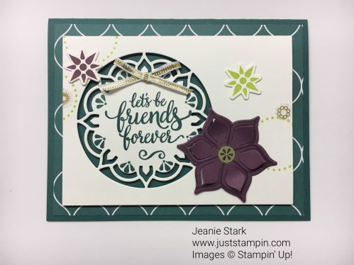 Stampin Up Eastern Palace Suite friend card idea - Jeanie Stark StampinUp