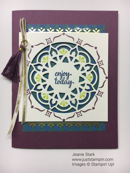 Stampin Up Eastern Palace suite All Occasion Card idea -Jeanie Stark StampinUp