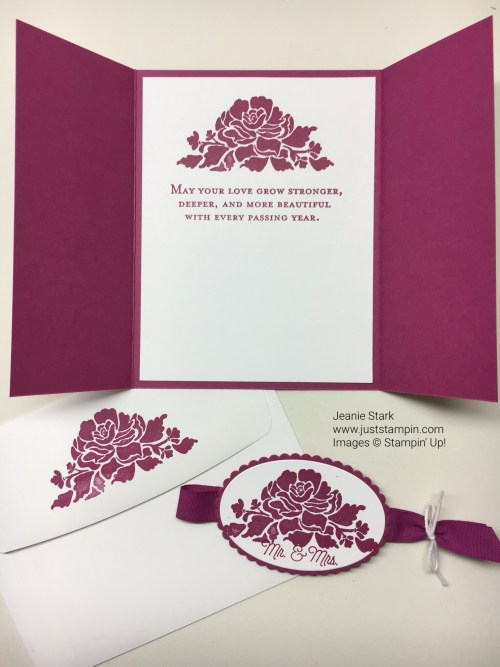 Stampin Up Floral Phrases Gate Fold wedding card idea - Jeanie Stark StampinUp