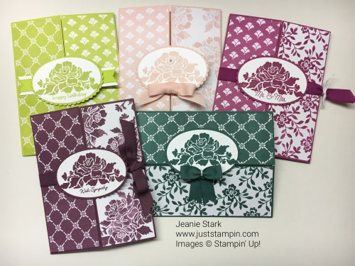 Stampin Up Floral Phrases and Fresh Florals In Color Gate Fold card ideas - Jeanie Stark StampinUp