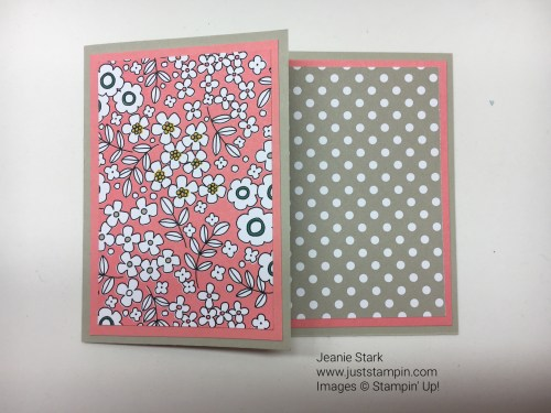 Fun Fold card idea - for ideas and inspiration visit juststampin.com Jeanie Stark StampinUp
