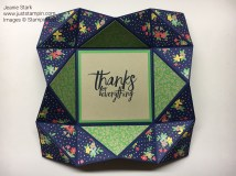 Origami Fun Fold Card. For directions and supplies visit www.juststampin.com