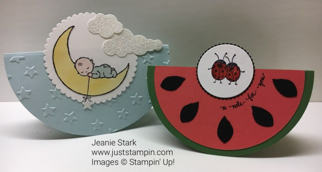 Stampin Up Rocker cards. For directions and supplies visit www.juststampin.com