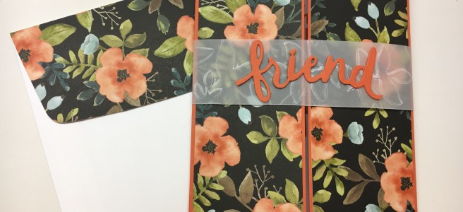 Stampin Up Whole Lot of Lovely Friend card idea - Jeanie Stark StampinUp